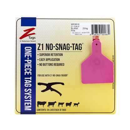 Picture of Z TAG CALF one piece PINK BLANK - 25's