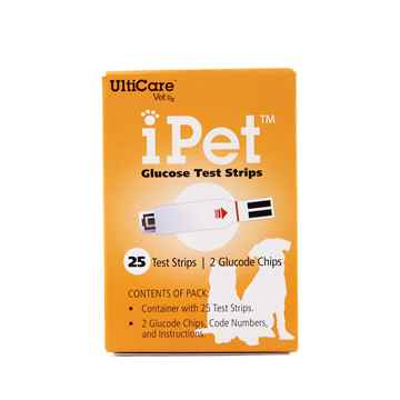 Picture of IPET GLUCOSE TEST STRIPS - 25`s