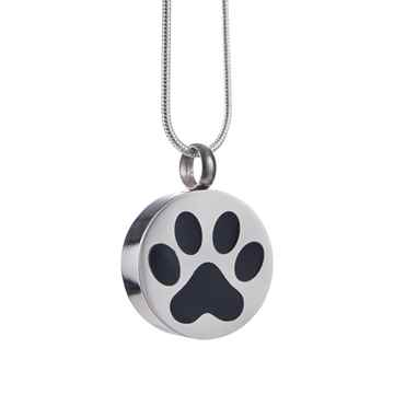 Picture of CREMATION JEWELRY Stainless Steel Paw Print Pendant
