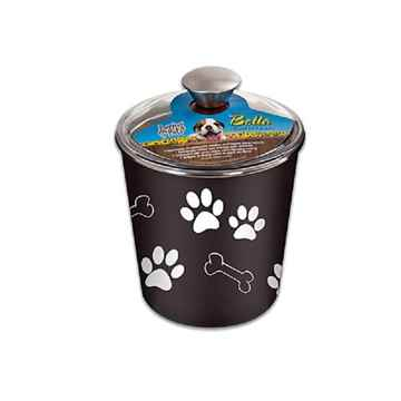 Picture of BELLA BOWL CANISTER with Paws and Bones - Espresso