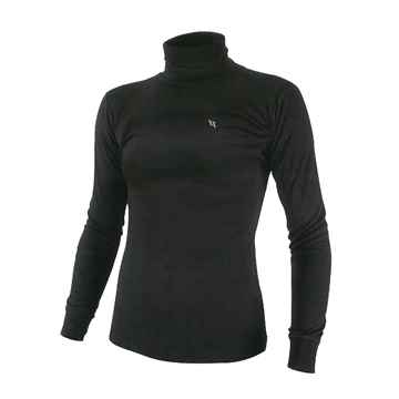 Picture of BACK ON TRACK LADIES POLO NECK SWEATER BLACK LARGE