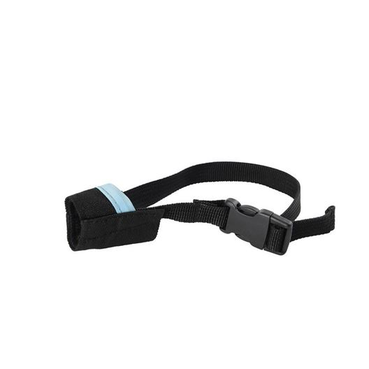 Picture of BUSTER MUZZLE NYLON Easy ID (279465) Black/ Light Blue - XX Small