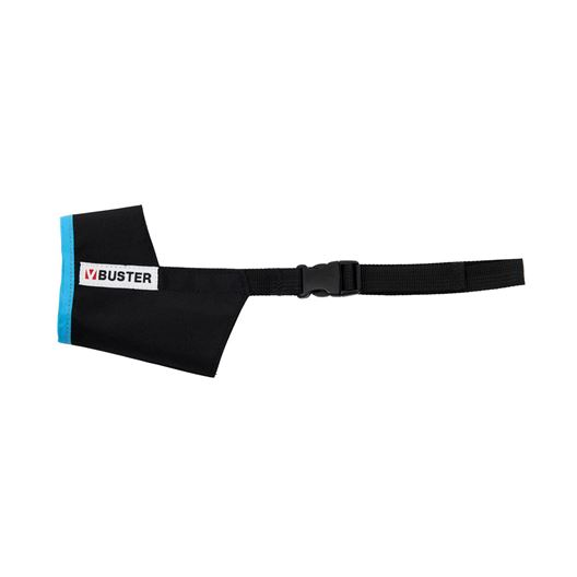 Picture of BUSTER MUZZLE NYLON Easy ID (279470) Black /Turquoise - X Large