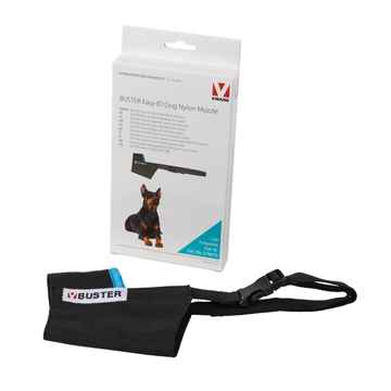 Picture of BUSTER MUZZLE NYLON CANINE Easy ID (279470) Black /Turquoise - X Large