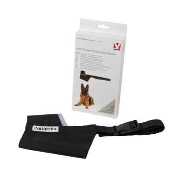 Picture of BUSTER MUZZLE NYLON CANINE Easy ID (279471) Black /Grey - XX Large
