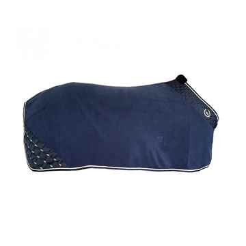 Picture of BACK ON TRACK HORSE FLEECE RUG NIGHTS COLLECTION BLUE 78in