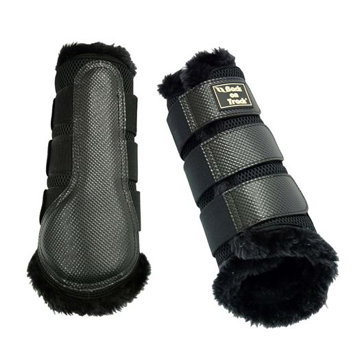 Picture of BACK ON TRACK BRUSH BOOT 3D MESH FUR SMALL