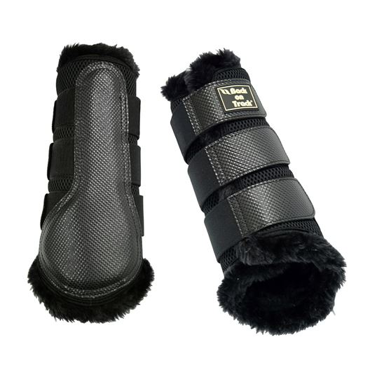 Picture of BACK ON TRACK BRUSH BOOT 3D MESH FUR LARGE