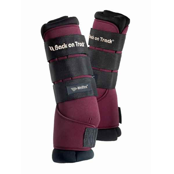 Picture of BACK ON TRACK ROYAL QUICK WRAP PAIR WINE RED MEDIUM 16in
