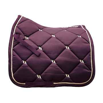 Picture of BACK ON TRACK NIGHTS COLL SADDLE PAD DRESSAGE RUBY FULL