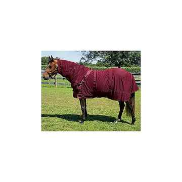 Picture of BACK ON TRACK MESH RUG w/ HOOD WINE RED 78in