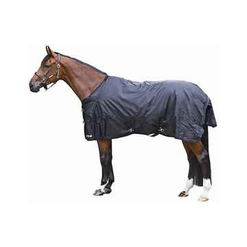 Picture of BACK ON TRACK HORSE FROST RUG BLACK 84in