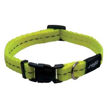 Picture of COLLAR ROGZ UTILITY FIREFLY Dayglo Yellow - 3/8in x 6-8.5in(tu)