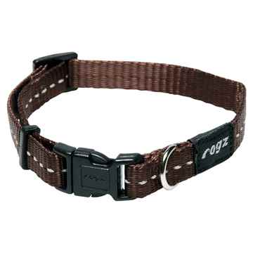 Picture of COLLAR ROGZ UTILITY FIREFLY Chocolate - 3/8in x 6-8.5in