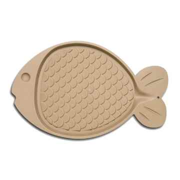 Picture of BELLA SPILL PROOF CAT FISH SHAPED MAT - Tan