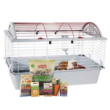 Picture of CAGE LIVING WORLD DELUXE GUINEA PIG STARTER KIT