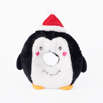 Picture of XMAS HOLIDAY ZIPPY PAWS Holiday Donutz Buddies - Penguin(nr)