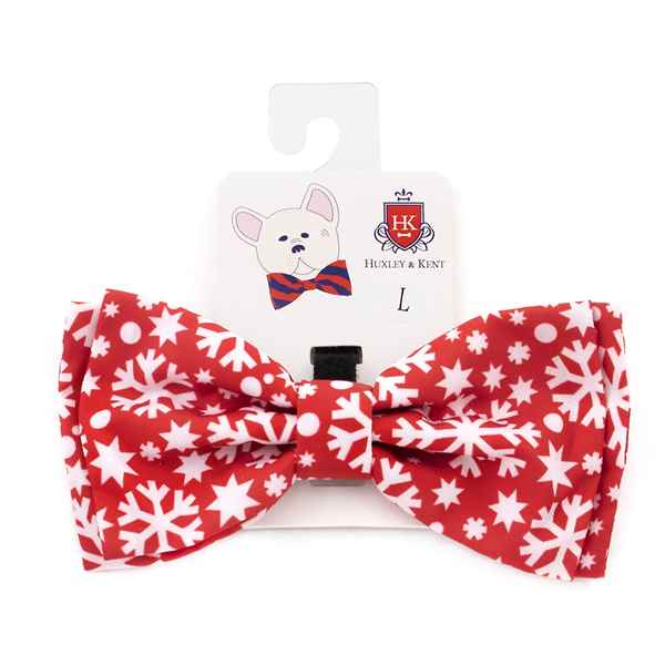 Picture of XMAS CANINE BOW TIE Snowflake - Large(nr)