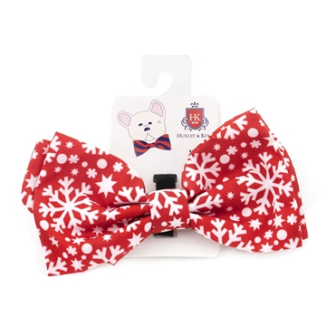 Picture of XMAS CANINE BOW TIE Snowflake - X Large
