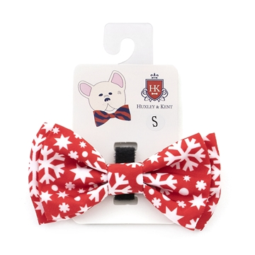 Picture of XMAS CANINE BOW TIE Snowflake - Small(nr)