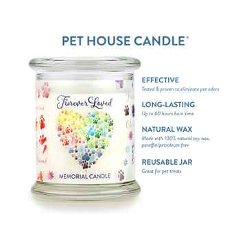 Picture of CANDLE PET HOUSE  One Fur All Furever Loved Memorial  - 8.5oz