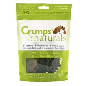 Picture of CRUMPS NATURALS GARLIC LIVER FILLET TREATS - 75g