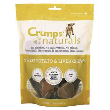 Picture of CRUMPS NATURALS SWEET POTATO&LIVER RAWHIDE - 330gm