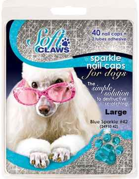 Picture of SOFT CLAWS TAKE HOME KIT CANINE LARGE - Blue Sparkle