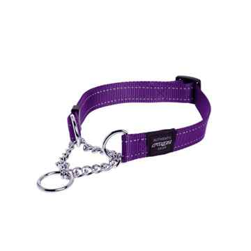 Picture of COLLAR ROGZ LUMBERJACK OBEDIENCE HALF CHECK Purple - 1in x 17-27in(tu)