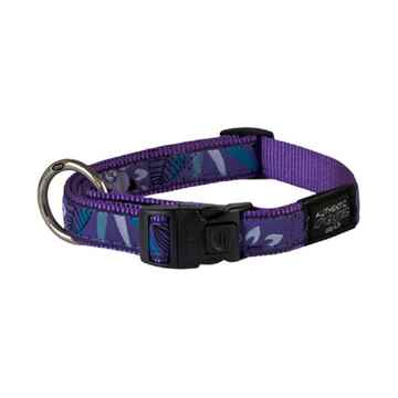 Picture of COLLAR ROGZ FANCY DRESS BEACH BUM Purple Forest - 3/4inx13-22in