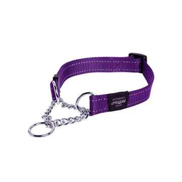 Picture of COLLAR ROGZ SNAKE OBEDIENCE HALF CHECK Purple - 5/8in x 10-16in(tu)