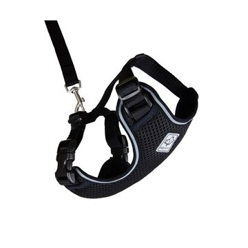 Picture of LEAD AND HARNESS COMBO RC ADVENTURE KITTY Large - Black