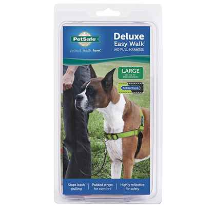 Picture of EASY WALK DELUXE NO PULL HARNESS Large - Apple Green