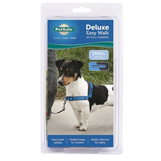 Picture of EASY WALK DELUXE NO PULL HARNESS Small - Ocean Blue