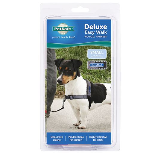 Picture of EASY WALK DELUXE NO PULL HARNESS Small - Steel Grey