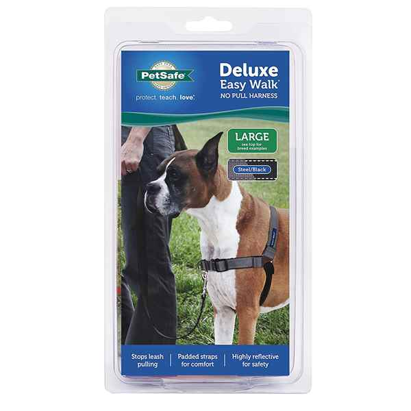 Picture of EASY WALK DELUXE NO PULL HARNESS Large - Steel Grey
