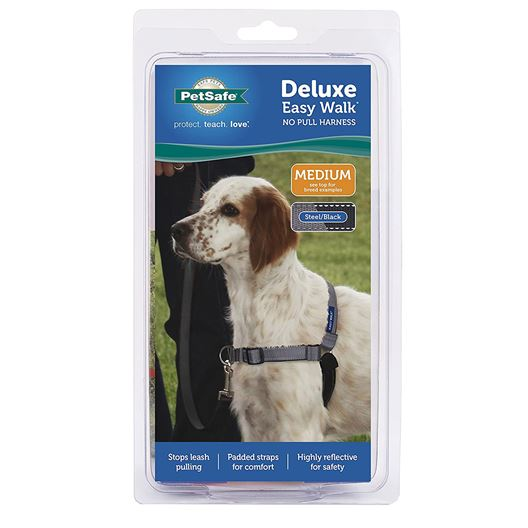Picture of EASY WALK DELUXE NO PULL HARNESS Medium - Steel Grey