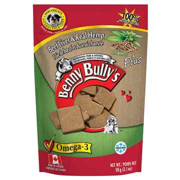 Picture of TREAT BEEF LIVER PLUS HEMP Benny Bullys - 58g