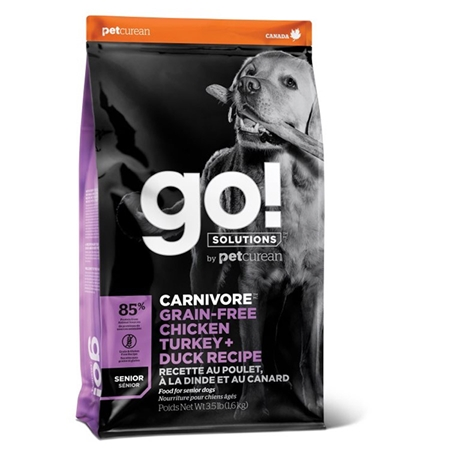Picture of CANINE GO! CARNIVORE GF Chicken/Turkey/Duck Senior - 1.5kg
