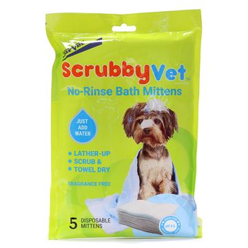 Picture of SCRUBBYVET No Rinse Bath Mittens Starter Pack(J1449) - 5/pk