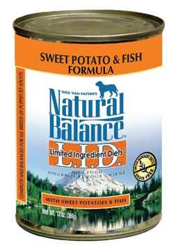 Picture of CANINE NATURAL BALANCE LID GF Sweet Potato & Fish Canned - 12 x 13oz