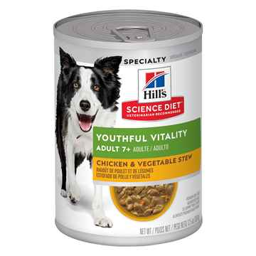 Picture of CANINE SCI DIET YOUTHFUL VITALITY 7+ CHICK & VEG STEW - 12 x 12.5oz