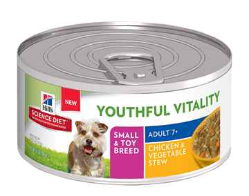 Picture of CANINE SCI DIET YOUTHFUL VITALITY 7+  SB CHICK & VEG STEW - 24 x 5.5oz