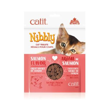 Picture of CATIT NIBBLY FELINE TREATS Salmon Flavor - 90g