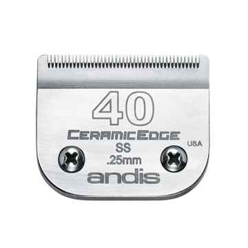Picture of CLIPPER BLADE ANDIS ss #40 Ceramic Edge (64350) - ea
