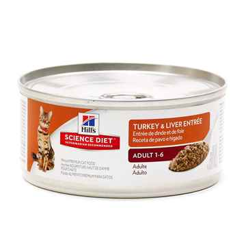 Picture of FELINE SCI DIET ADULT TURKEY & LIVER ENTREE - 24 x 155gm cans