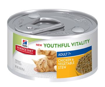 Picture of FELINE SCI DIET YOUTHFUL VITALITY 7+ CHICK & VEG STEW - 24 x 2.9oz(tu)