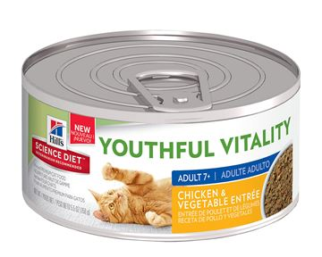 Picture of FELINE SCI DIET YOUTHFUL VITALITY 7+ CHICK & VEG ENTRE - 24 x 5.5oz