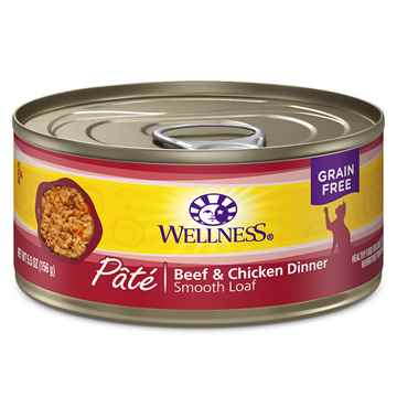 Picture of FELINE WELLNESS GF Pate Beef & Chicken Dinner - 24 x 5.5oz cans
