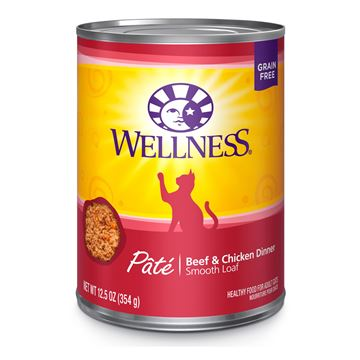 Picture of FELINE WELLNESS GF Pate Beef & Chicken Dinner - 12 x 12.5oz cans